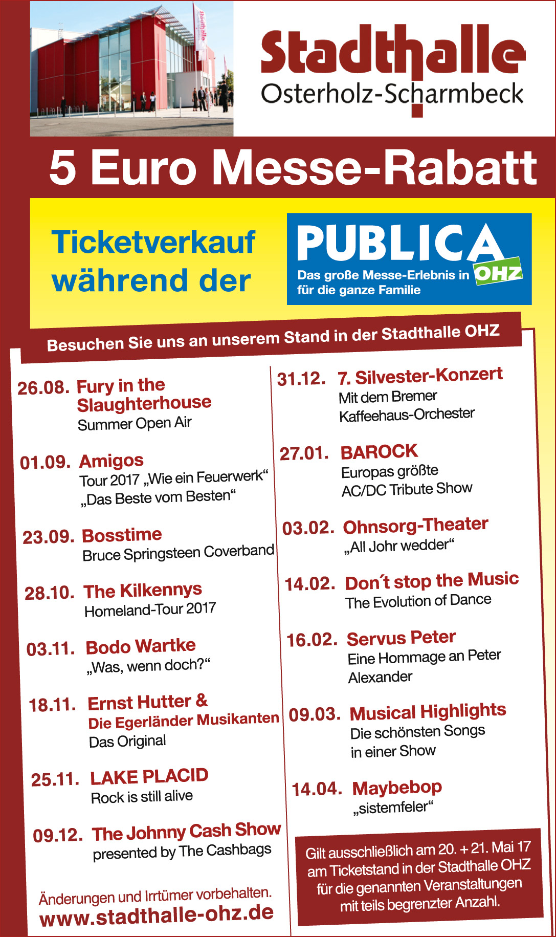 Stadthalle Osterholz-Scharmbeck, Publica 2017, 5 Euro Messe Rabatt